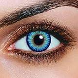 Farbige Sky Hellblaue Kontaktlinsen + 1 GRATIS Behälter Jahreslinsen Blaue Kontaktlinsen Karneval...