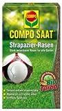 COMPO SAAT Strapazier-Rasen, Spezielle Rasensaat-Mischung mit wirkaktivem Keimbeschleuniger, 175 g,...