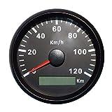 GPS Geschwindigkeitsmesser, Velometer, 120 km/h, für Motorrad, Yachten, mit Hintergrundbeleuchtung,...
