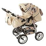 Lux4Kids Kinderwagen Set Babywanne Sportsitz Babyschale Wickeltasche Matratze Buggy optionales...