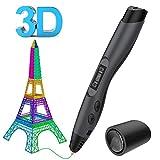 3D Stifte, Aerb 3D Pen Intelligent LCD-Bildschirm kompatibel mit PLA/ABS Filament, mit 2 Frei 1,75...