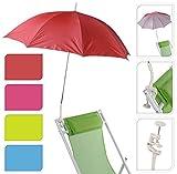 Sonnenschirm für Kinderwagen Ø 100 cm UV Schutz 50+ Buggy Schirm für liegen (Lila)