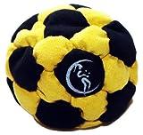 Pro Hacky Sack 32 Paneelen (Schwarz/Gelb) Profi Freestyle Footbag! Hacky Sack für Anfänger und...