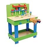 """Werkbank """"Frederico"""" aus Holz, mit allerlei Zubehör und Werkzeug, schult die Feinmotorik und..."""