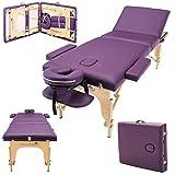 Massage Imperial - tragbare Profi-Massageliege Kensington - leicht 16 Kg - 3 Zonen - Violett