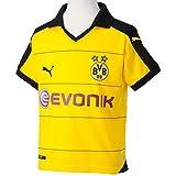 PUMA Kinder Trikot BVB Home Replica Shirt with Sponsor, Cyber Yellow/Black, XL (Kinder), 164, 748000...