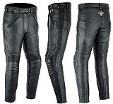 Texpeed - Damen Motorradhose - Rindsleder mit entfernbaren CE-Protektoren - EU50 - W42 L30