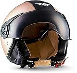 """MOTO · H44 """"Vintage Bronze"""" (Bronze) · Jet-Helm · Chopper Scooter-Helm Motorrad-Helm Mofa..."""