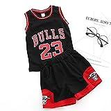 unbrand Kinder Junge Herren NBA Michael Jordan # 23 Chicago Bulls Retro Basketball Shorts Sommer...
