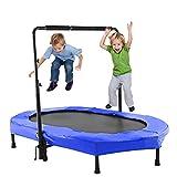 Twins Trampolin mit Griff Kinder Fitness Gartentrampolin für zwei Kinder
