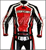 Motorrad Lederkombi 4LIMIT Sports LAGUNA SECA Motorradkombi Zweiteiler rot-schwarz-weiß