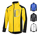 CYCLEHERO Winddichte Fahrradjacke wasserdicht atmungsaktiv reflektierend Softshell Jacke...