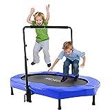 ANCHEER Kinder Trampolin mit Griff Oval Trampolin für zwei Kinder (ab 3 Jahren)