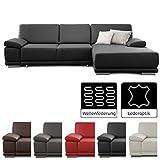 CAVADORE Ecksofa Corianne / Sofa in Kunstleder und modernem Design / Inkl. beidseitiger...