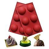 BAKER DEPOT 6 Löcher Silikonform für Schokolade, Kuchen, Gelee, Pudding, handgefertigte Seife,...