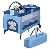 COSTWAY Reisebett klappbar   Babyreisebett Farbwahl   Kinderreisebett mit Rollen   Babybett  ...