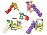 Clarmaro 'Kids ADVENTURE 3in1' Kinder Spielplatz Rutsche mit 140 cm Wellenrutsche, Schaukel und...