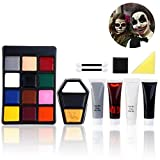 Unomor Halloween Schminke Make up Kit Hexe Zombie Clown Schminken (Style 1)
