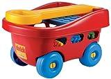 Ecoiffier-France Kinder Bollerwagen mit 60 -Kleinkind-Bausteine