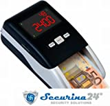 Geldprüfer Geldprüfgerät Euro Banknotenprüfer Geldscheinprüfer SR-2100 von Securina24®...
