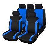 Upgrade4cars Auto-Sitzbezüge Set Blau Schwarz | Auto-Schonbezüge Universal | Auto-Zubehör...