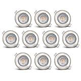 B.K.Licht LED Einbauleuchten 10er Set, Einbaustrahler, inkl. 10x LED-Modul 5W 450lm 3000K, LED...