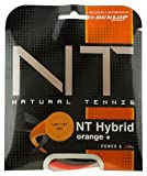 Dunlop Tac NT Hybrid Orange 1.39/1.27mm Tennissaiten, Schwarz/Orange, 1.39/1.27 mm