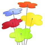 SUNPLAY 'Sonnenfänger Blumen' im FARBMIX, 5 Stück zu je 20 cm Durchmesser im Set + 70 cm...