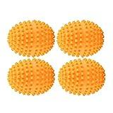 4 Teile/satz Wäschetrockner Bälle Orange Wiederverwendbare Trockner Bälle Waschen Wäsche...