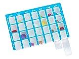 Pillendose Arzneikassette 7-Tage, 1 Woche, Blau - Tablettenbox Pillenbox