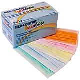 Med-Comfort Höga Rainbow, Einmalmundschutz 5-farbig, 3-lagig, mit latexfreiem Elastikband, 50...