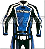 Motorrad Lederkombi 4LIMIT Sports LAGUNA SECA Motorradkombi Zweiteiler blau-schwarz-weiß