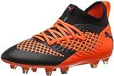Puma Unisex-Kinder Future 2.3 Netfit FG/AG Jr Fußballschuhe Schwarz Black-Shocking Orange 02, 37 EU