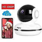 megeny WLAN IP Kamera 1080P Überwachungskamera mit Nachtsicht, Bewegungserkennung, Cloud Speicher,...