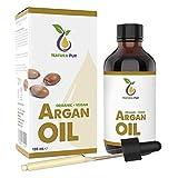 Natura Pur Bio Arganöl 120ml - 100% nativ, kaltgepresst, vegan - aus Marokko - Anti-Aging Serum...