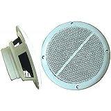Außenlautsprecher 'M-65', 2-Wege, 8 Ohm, 100 Watt, 165 mm, weiß, Paar