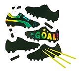 Kratzbild-Magnete - Fußballschuhe - scratch art mit Regenbogenfarben für Kinder zum Basteln (10...
