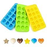Ankway silikon backform Schokolade backen aus Silikon DIY Gummibärchen, Schokolade usw - 3 Paket