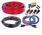 CAR HIFI Verstärker Endstufe Kabel Anschlusskabel KOMPLETTSATZ 10 qmm mit Cinch Kabel