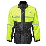 JDC Wasserdichte Motorrad-Regenüberzugsjacke Hohe Sichtbarkeit - SHIELD - Gelb/Schwarz - XXL
