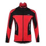 d.Stil Herren Fahrradjacke Langarm Fleece Winddicht MTB Jacke S - 2XL (Rot, L (Körpergröße:...