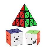 Zauberwürfel Set, Vdealen 2x2x2 Zauberwürfel, 3x3x3 Cube, Pyramide Zauberwürfel, Smooth...