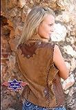 Stars & Stripes Lederweste Nelly, Farbe: braun, Gr. XL - Extra Large