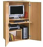 Büroschrank Buche dekor - PC Schrank - Computerschrank Buche dekor - 813