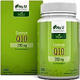 Coenzym Q10 | CoQ10 Kapseln hochdosiert 200mg pro Kapsel | Premium CoQ10 durch Pflanzliche...