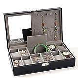Crystalzhong Dislpay Box Organizer für Uhren, Ringe, Halsketten, Ohren, Nägel,...