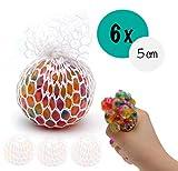 L+H 6X Anti-Stress-Ball Quetschball Regenbogen | hochwertig verarbeitet | für Kinder und Erwachsene...