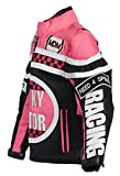 MDM Mädchen Motorradjacke in rosa für Kinder, Bikerjacke, Racing Jacke (2XL)