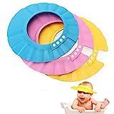 EROSPA® Baby Bade-Dusch-Haube Kopfhaube Wasser-Spritzschutz verstellbar Shampoo-Augenschutz beim...