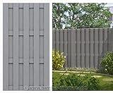 WPC Gartenzaun, 100% blickdicht 95x179cm - Sichtschutz, Sichtschutz Elemente, Sichtschutzwand,...